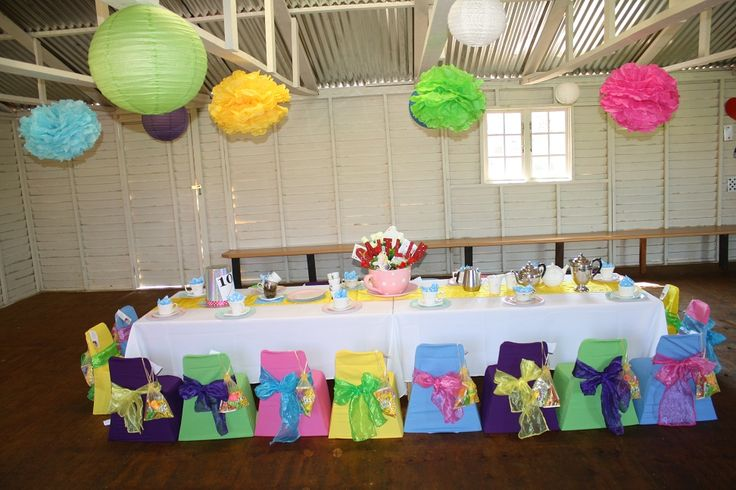 Shindig Sisters Party Planners decorated a Alice in Wonderland party at a Durban based kiddies party venue