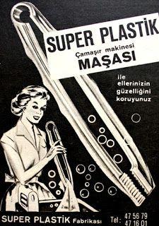 süper plastik çamaşır makinesi maşası 1964