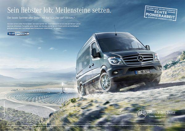 Mercedes Vans Sprinter Campaign 2013 by Bleex. , via Behance