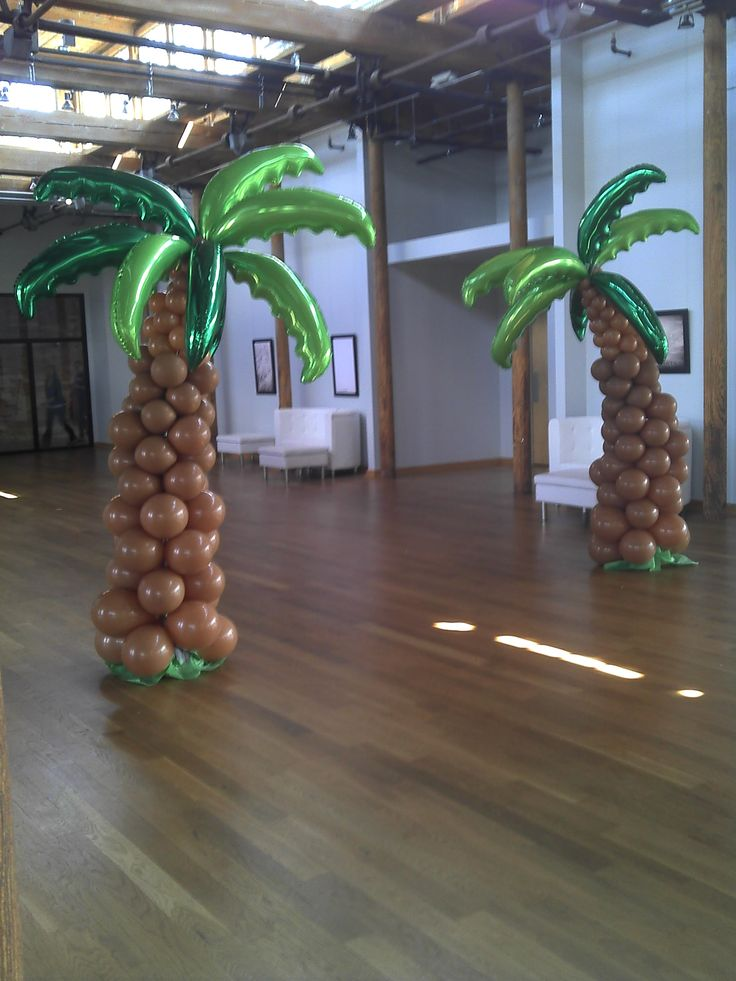balloon palm trees baby shower pinterest