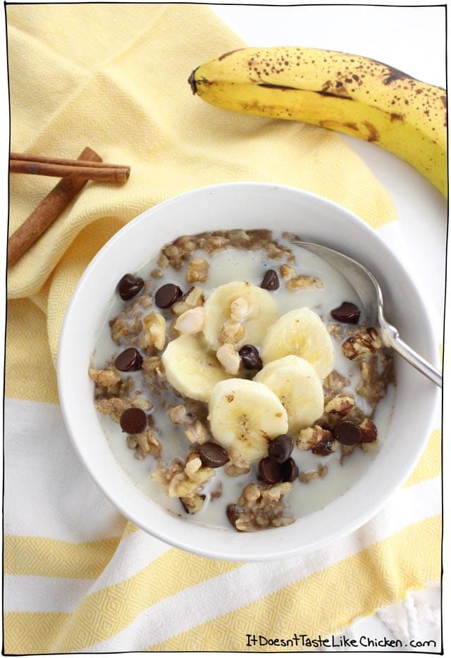 Vegan Banana Bread Oatmeal