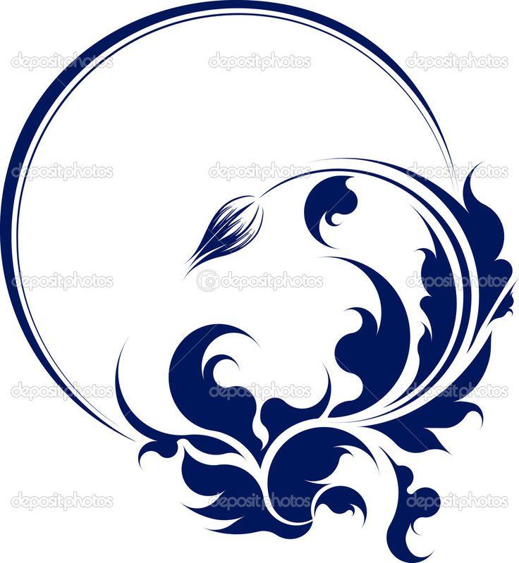 элегантный Овальный фрейм с цветком - Стоковая иллюстрация: 8865251