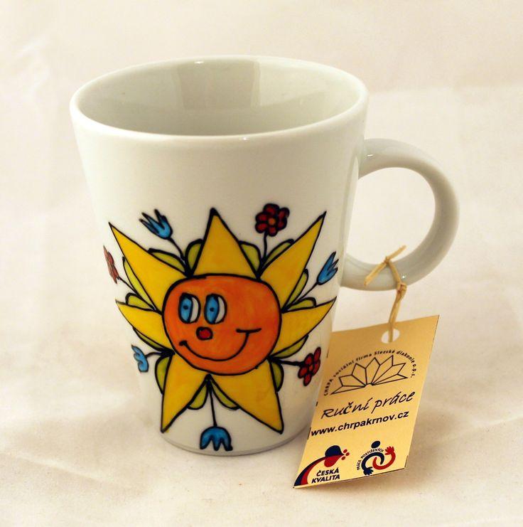 Hrnek 0,2 L - ručně malovaný - motiv Sluníčko