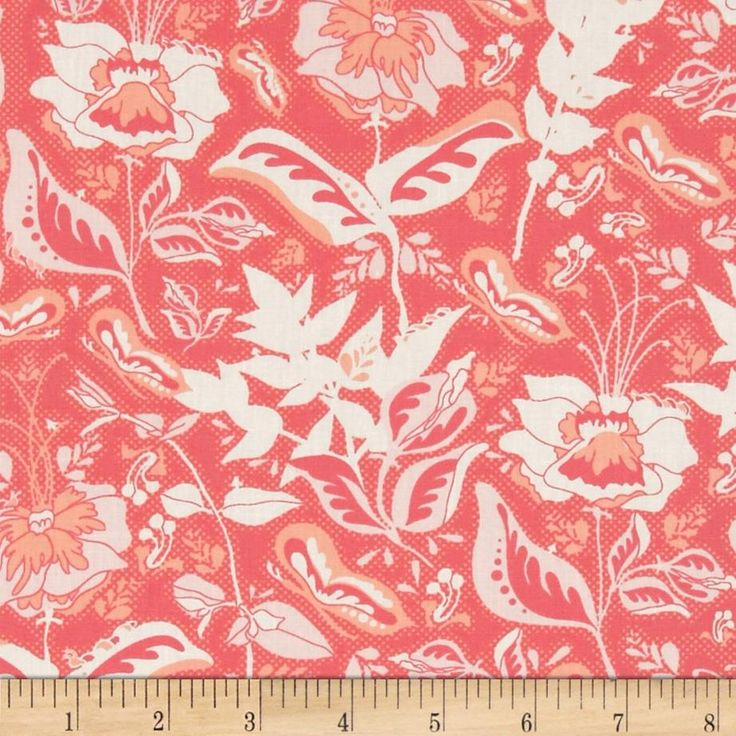 Art Gallery Reminisce Wonderment Teaberry from @fabricdotcom  Designed by Bonnie Christine for Art Gallery Fabrics, this cotton print is perfect for quilting, apparel and home decor accents.  Colors include white, peach, coral and pink.  Art Gallery Fabric features 200 thread count of finely woven cotton.