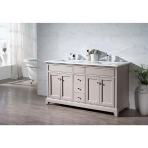 stufurhome Arianny 59 in. W x 22 in. D x 33.5 in. H Vanity in Taupe with Quartz Vanity Top in White and Basins TY-7340-59-QZ at The Home Depot - Mobile