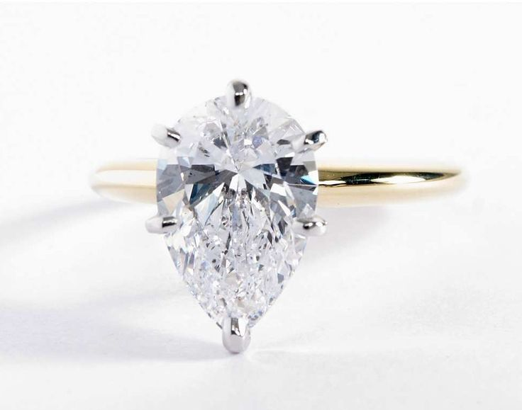 3 Carat Pear Diamond in the Classic Six-Prong Solitaire Engagement Ring from Blue Nile