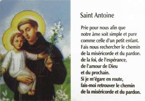 Prière Saint Antoine