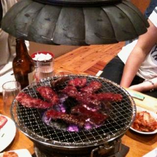 Be prepared to smell of meaty smoke after this yummy Japanese BBQ. Kashiwa Yakiniku, 7A Falcon Street, Crows Nest.