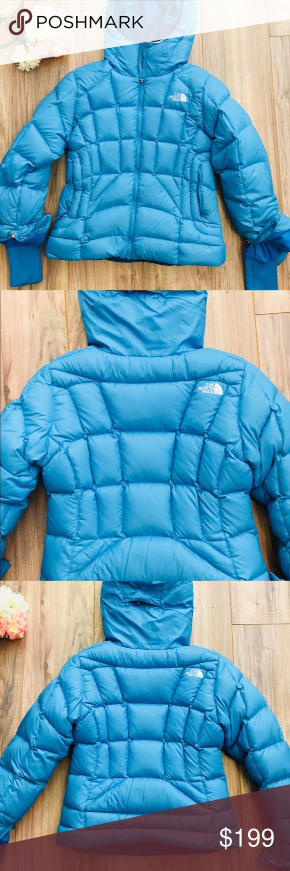 The North Face Womens Goose Down 600 Puffer Jacket Used but in Perfect Condition hence why I've added it to my boutique list this is a very cute jacket that i probably wore about two times when I was outside of California. I'd like to find more upcoming items to fill my closet space. I don't think I'll be needing this bad boy.   Size is XS  light blue color  Goose down cuteness  And I'll let the pictures speak for themselves .. The North Face Jackets & Coats Puffers