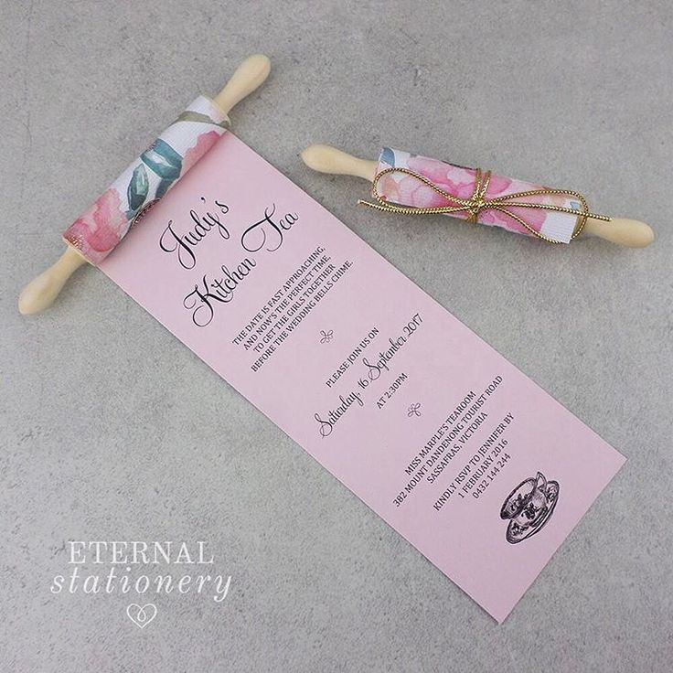 29 отметок «Нравится», 2 комментариев — Eternal Stationery (@eternalstationery) в Instagram: «❤ This gorgeous rolling pin kitchen tea invitation was the featured invitation in our recent…»