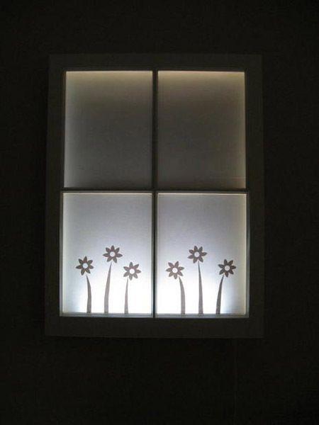 Para habitaciones ciegas o con pocas ventanas muy chicas es una buena solucion Materiales: Listones de madera de pino Molduras de madera Aerosol de vidrio esmerilado Papel de Contacto tijera Papel …