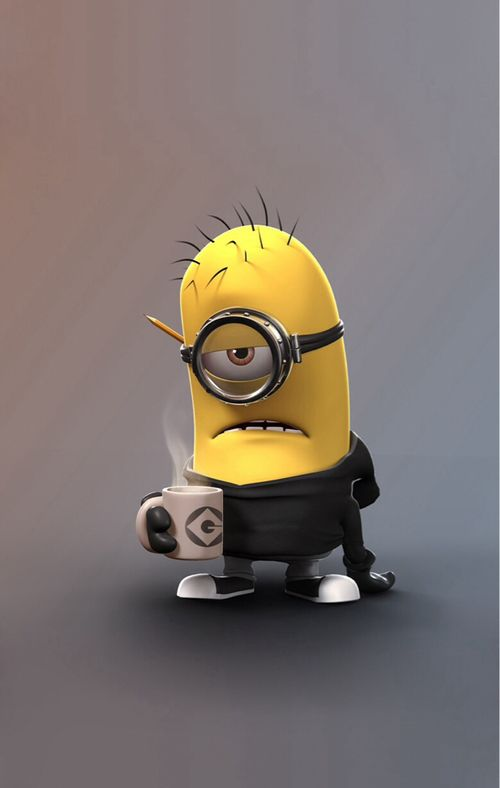 Tired Minion Boo And I Cant Even Drink Coffee Pick Me