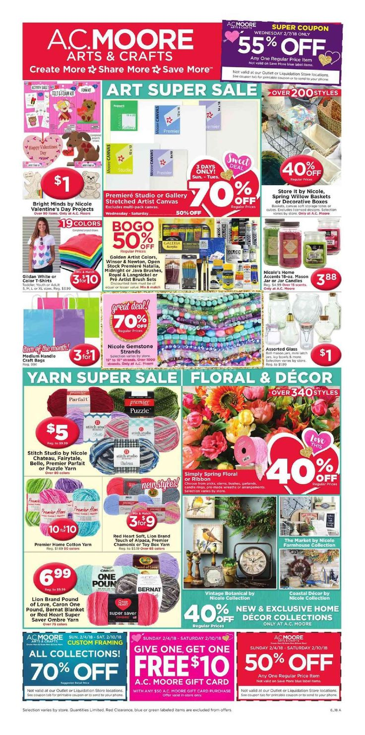 AC Moore Weekly Ad February 4 - 10, 2018 - http://www.olcatalog.com/home-garden/ac-moore-weekly-ad.html