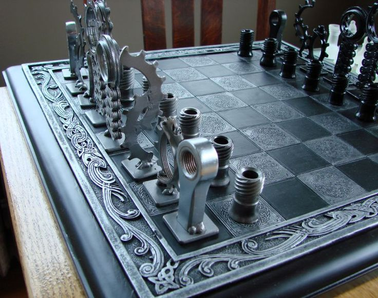 NEED!!! bike part chess pieces - For more great pics, follow www.bikeengines.com