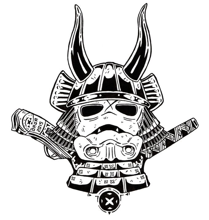 Samurai trooper sticker