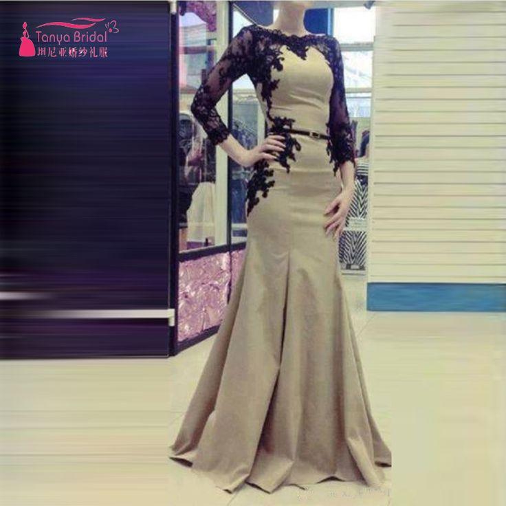 Langarm Meerjungfrau Abendkleider elegante Khaki elegante Abendkleider afrikanische abendkleider türkische abendkleider Z335 //Price: $US $169.00 & FREE Shipping //     #abendkleider