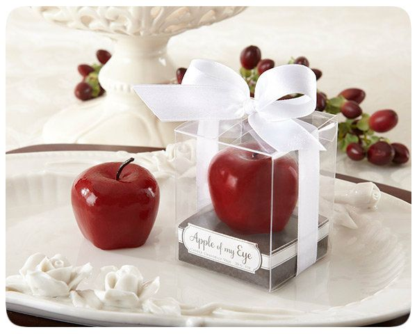 Apple Candle Favors-perfect for a Snow White wedding favor!