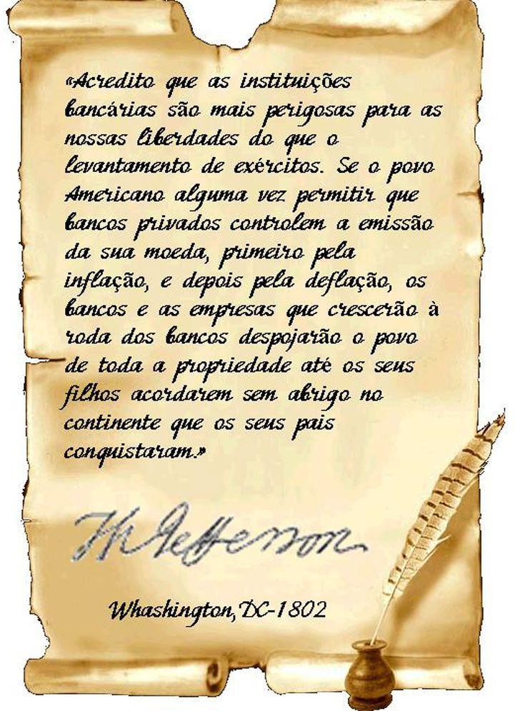 Escrito por Thomas Jefferson-Presidente EUA -1802