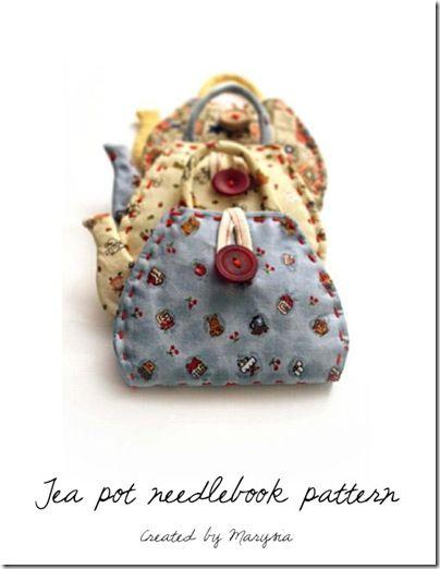 Pattern for the Tea pot needlebook