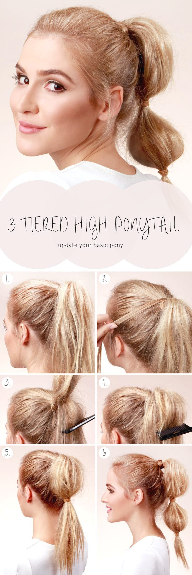 10 quick and easy ideas on how to make a pretty hairstyle, #Easy #hairstyle #Ideas #Pretty