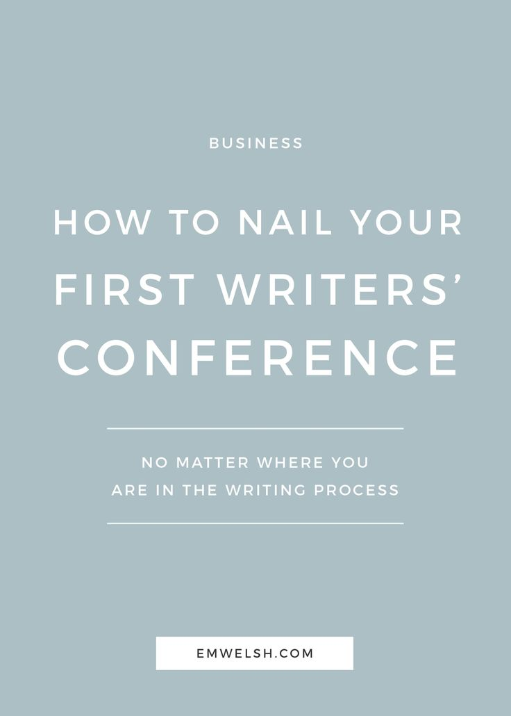Heading out to your first writer's conference? Read this article from E.M. Welsh first!
