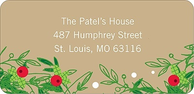 Christmas Holly Spray - Christmas Address Label. This Christmas address label features a unique take on traditional holly. Colorful, seasonal and trendy!. Price: $3.99