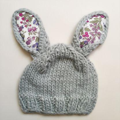 Bunny Hat, Grey/Floral