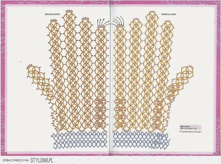 rękawiczki na szydełku wzory - Поиск в Google