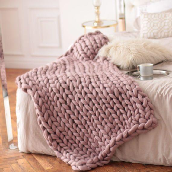 Knitting Patterns Big Wool : Best 25+ Chunky knit blankets ideas on Pinterest Chunky ...