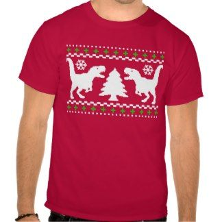 Funny T-Rex Ugly Christmas Sweater Shirts