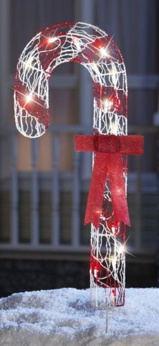 Outdoor Lighted Candy Canes: Lighted Candy Cane Stake Home Outdoor Decoration Lawn Yard Christmas Holiday,Lighting