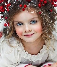 child Christmas portrait by unknown artist/photographer. would love to give credit to him/her....
