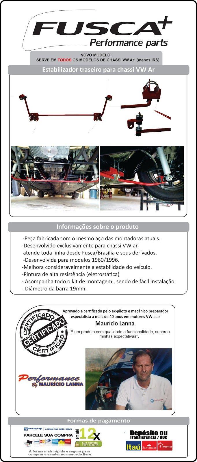 Barra Estabilizadora Traseira Para Fusca/brasilia/puma Vw Ar - R$ 682,00 em Mercado Livre