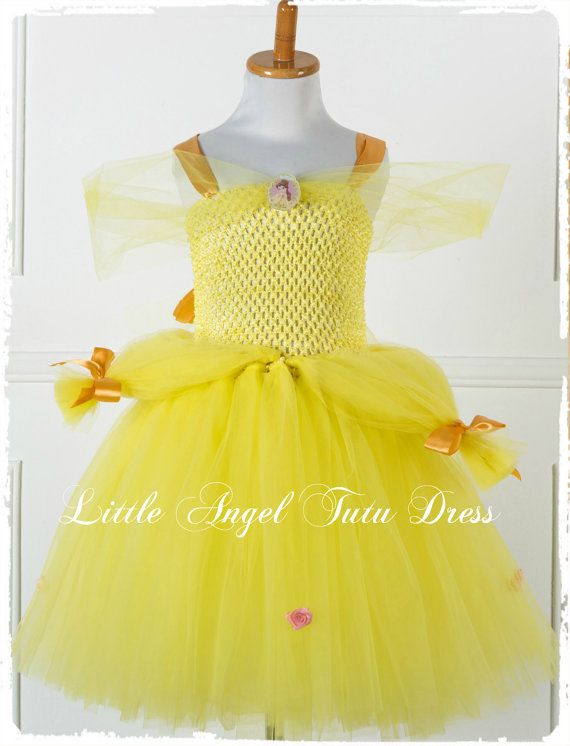Belle Beauty and the Beast Yellow Tutu by LittleAngelTutuDress