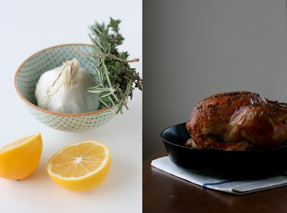 SIMPLE RECIPES + MEYER LEMON ROAST CHICKEN W/ HERBES DE PROVENCE