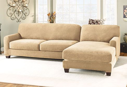 $199 Sectional Covers Stretch Pique Two Seat with Chaise