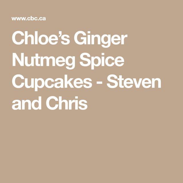 Chloe's Ginger Nutmeg Spice Cupcakes - Steven and Chris