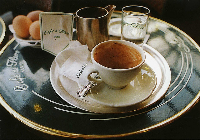 Cafe de Flore, a famous sidewalk cafe in Paris...