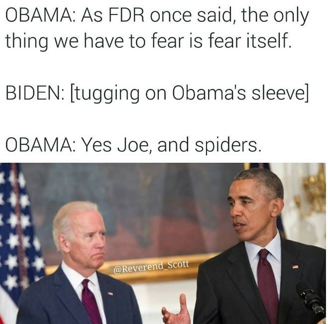 Joe's fear of spiders