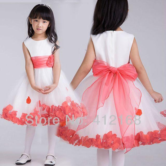 Festival de compras de comunhão vestidos menina para casamentos & Kids party fantasia princesa Prom Pageant crianças 6808