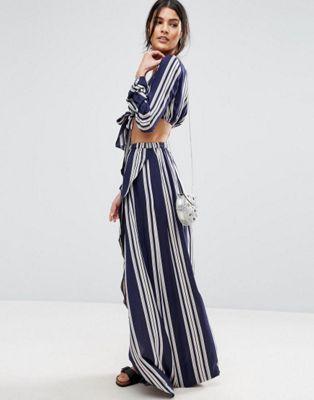 Falda larga de playa de conjunto con estampado de rayas de ASOS 29,99 €