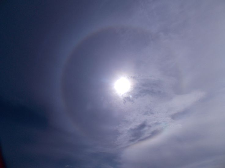 A halo around the sun - wonders of nature!
