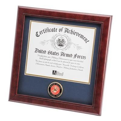 Marine Corps Certificate Frame with Medallion