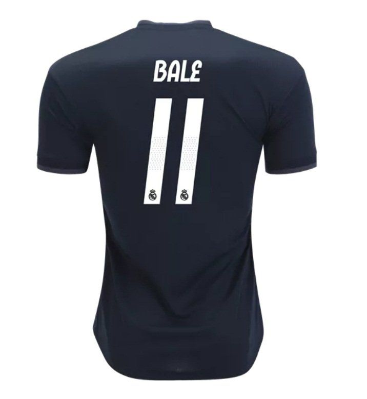 7af3d424d Gareth+Bale+ 11+Real+Madrid+black+2018-2019+away+Jersey+New+Free+Shipping
