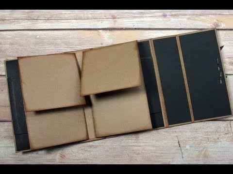 Unique Square Envelope Mini Album Tutorial - YouTube                                                                                                                                                                                 More