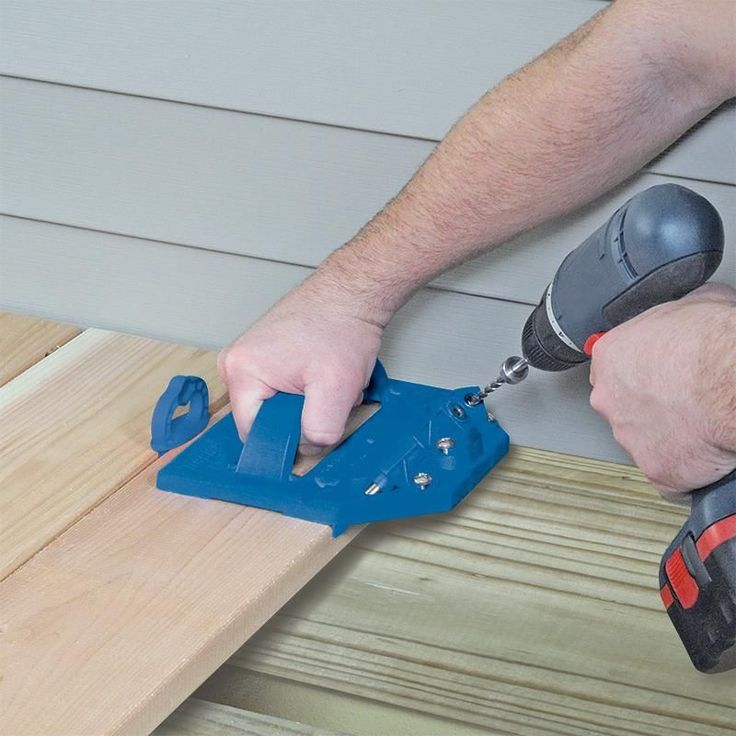 With the Kreg Deck Jig™, and a few simple tools you already own, you can create a beautiful and functional deck surface that is completely free of exposed fasteners and painful splinters. #WoodworkingTools #deckbuildingtools