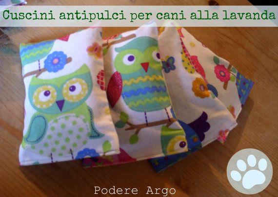 Dog Lavender Pillow anti fleas by PodereArgo on Etsy, €10.00
