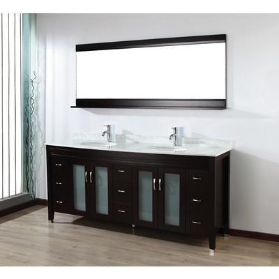 Art Bathe - Alba 75 Chai Vanity Ensemble with Mirror and Faucets - ALBA 75 CHAI - Home Depot Canada