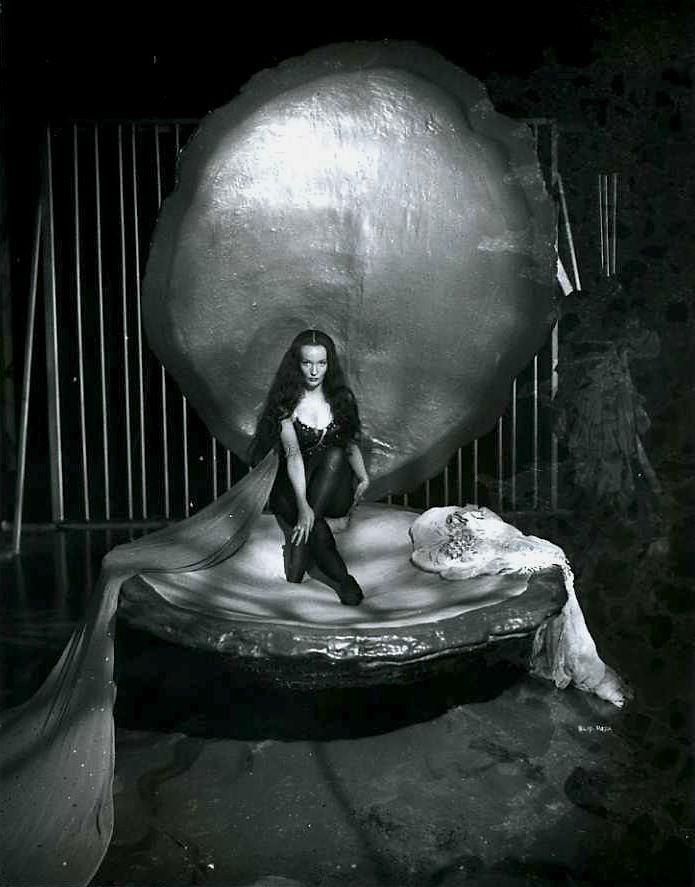 Ludmilla Tcherina in The Tales of Hoffmann 1951 In giant clamshell bed.