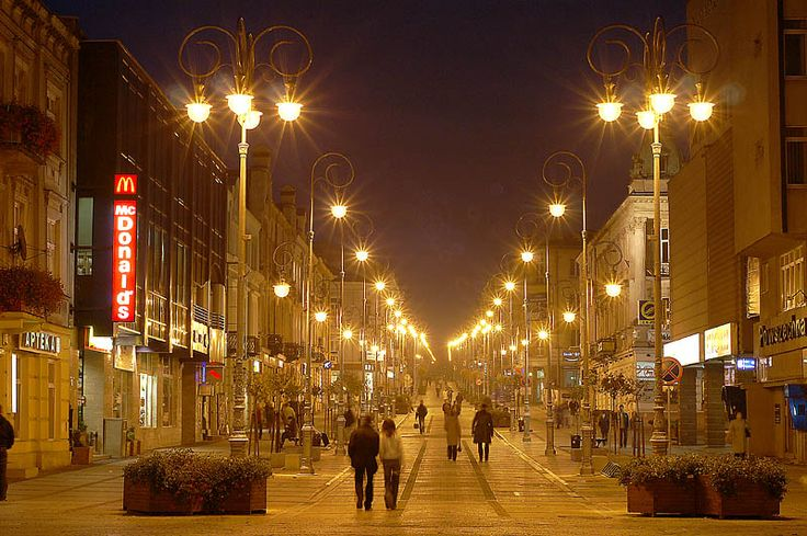 "Henryk Sienkiewicz Street in Kielce is the main commercial and historic ""artery"" of the city of Kielce, Poland. It was built in the middle of the 19th century"